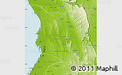 Physical Map of Belon-i Tsiribihina