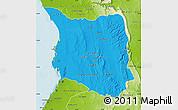 Political Map of Belon-i Tsiribihina, physical outside