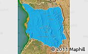 Political Map of Belon-i Tsiribihina, satellite outside