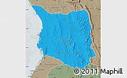 Political Map of Belon-i Tsiribihina, semi-desaturated