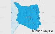 Political Map of Belon-i Tsiribihina, single color outside
