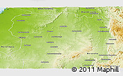 Physical Panoramic Map of Mahabo