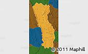 Political Map of Miandrivazo, darken