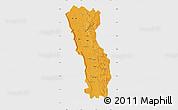 Political Map of Miandrivazo, single color outside