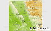 Physical Panoramic Map of Miandrivazo