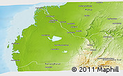 Physical Panoramic Map of Morombe