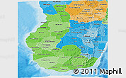 Political Shades Panoramic Map of Toliary