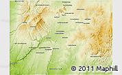 Physical 3D Map of Sakaraha