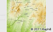 Physical Map of Sakaraha