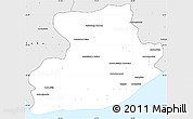 Silver Style Simple Map of Tsihombe