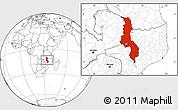 Blank Location Map of Malawi