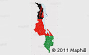 Flag Map of Malawi