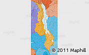 Political Shades Map of Malawi