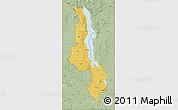 Savanna Style Map of Malawi