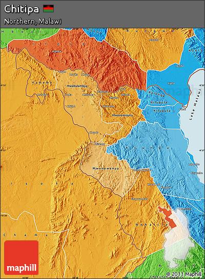 Political Shades Map of Chitipa