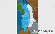 Political Shades Map of Northern, darken