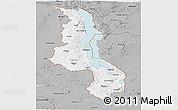 Gray Panoramic Map of Malawi