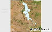 Satellite Panoramic Map of Malawi