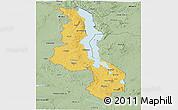 Savanna Style Panoramic Map of Malawi