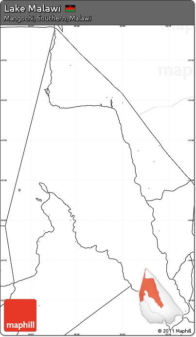 Free Blank Simple Map Of Lake Malawi No Labels - Malawi blank map