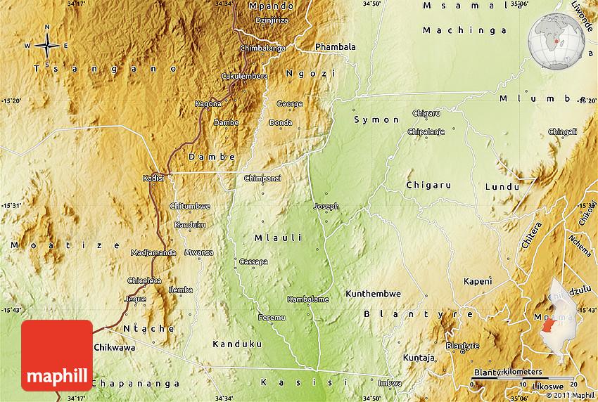 Physical Map of Mwanza