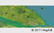 Satellite Panoramic Map of Johor