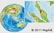 Physical Location Map of Kedah