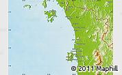 Physical Map of Kedah