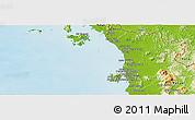 Physical Panoramic Map of Kedah