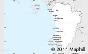 Silver Style Simple Map of Kedah