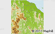 Physical 3D Map of Kelantan