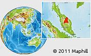 Physical Location Map of Kelantan