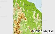 Physical Map of Kelantan