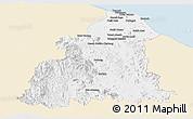 Classic Style Panoramic Map of Kelantan, single color outside