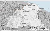 Gray Panoramic Map of Kelantan