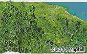 Satellite Panoramic Map of Kelantan