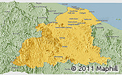 Savanna Style Panoramic Map of Kelantan