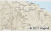 Shaded Relief Panoramic Map of Kelantan