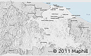 Silver Style Panoramic Map of Kelantan