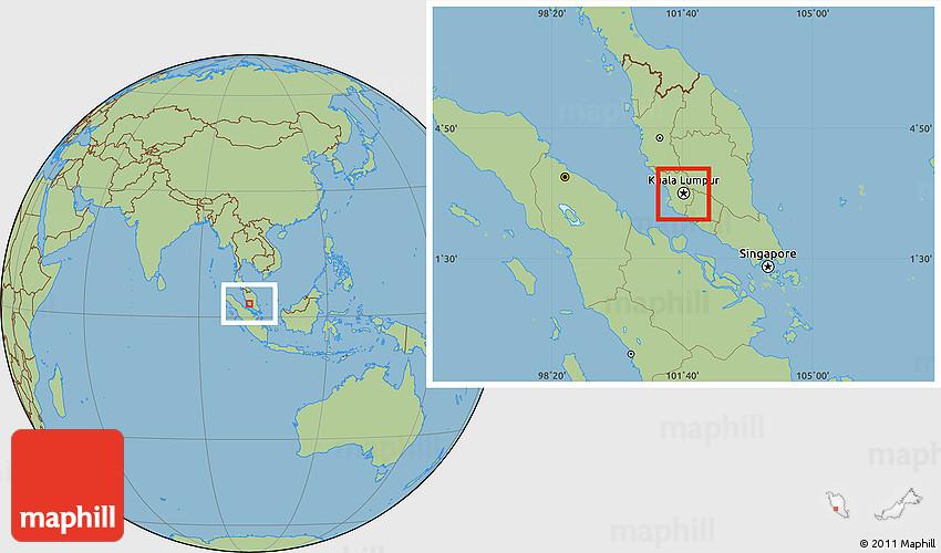 Savanna Style Location Map of Kuala Lumpur on world map colombo, world map malacca, world map manila, world map brussels, world map penang, world map singapore, world map bangkok, world map jakarta, world map bangalore, world map malaysia, world map mumbai,