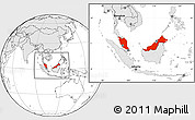 Blank Location Map of Malaysia, highlighted continent