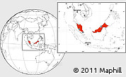 Blank Location Map of Malaysia
