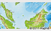 Physical Map of Malaysia