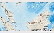 Shaded Relief Map of Malaysia