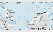 Silver Style Map of Malaysia