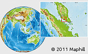 Physical Location Map of Melaka