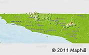 Physical Panoramic Map of Melaka