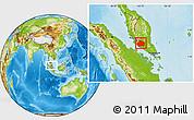 Physical Location Map of Negeri Sembilan