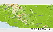 Physical Panoramic Map of Negeri Sembilan