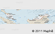 Classic Style Panoramic Map of Malaysia